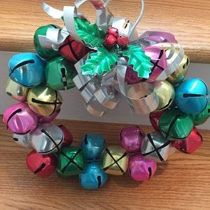 Other - Steel Jingle bell wreath with holly